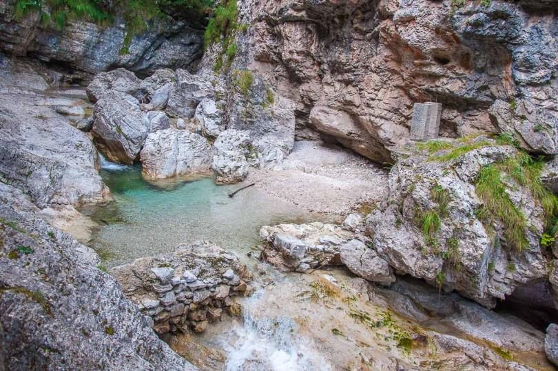 The pools feeding the Cascate della Soffia - Dolomites, Italy - rossiwrites.com