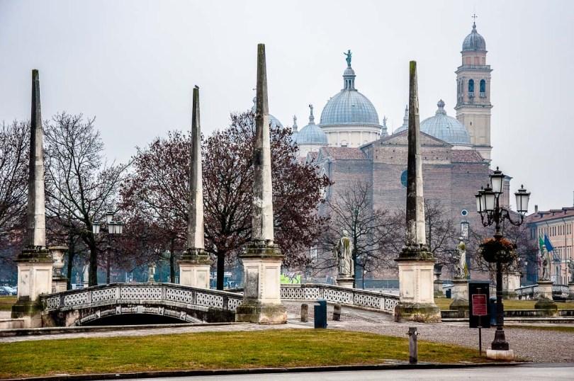 Prato della Valle with the Basilica of Santa Giustina - Padua, Italy - rossiwrites.com
