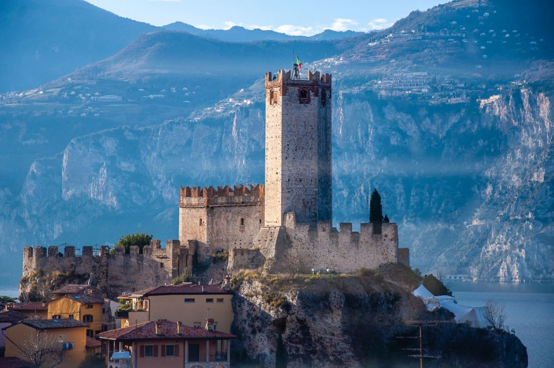 The Scaliger Castle - Malcesine, Italy - rossiwrites.com