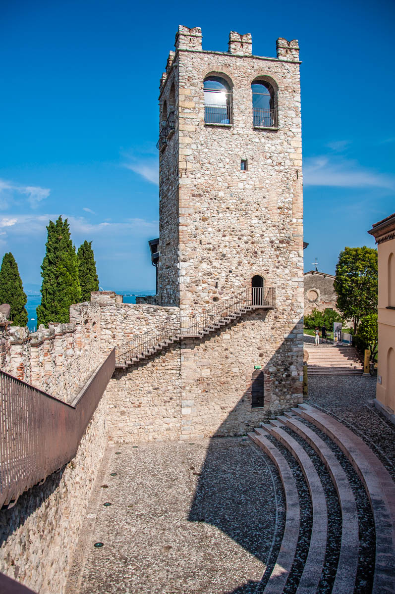The tower of the medieval castle - Desenzano del Garda, Lombardy, Italy - rossiwrites.com