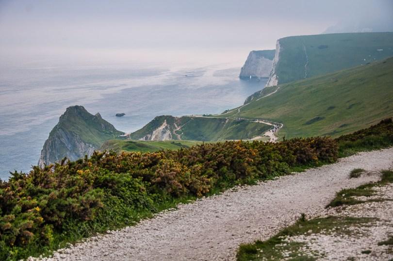 A coastal path leading to Durdle Door - Dorset, England - rossiwrites.com