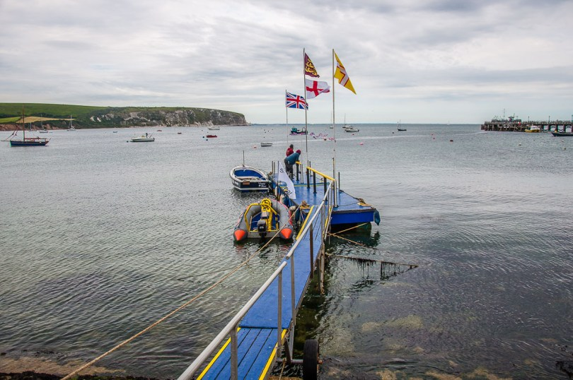 A pier in the harbour of the town of Swanage - Dorset, England - rossiwrites.com