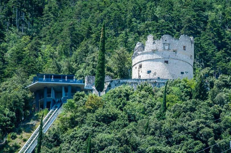 Bastione and funicular - Riva del Garda, Italy - rossiwrites.com