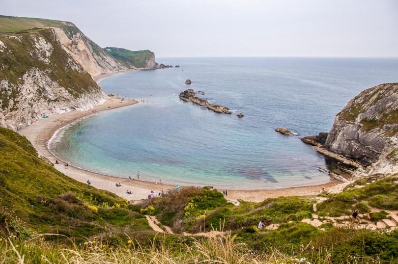 Man-of-War Beach on the Jurassic Coast - Dorset, England - rossiwrites.com