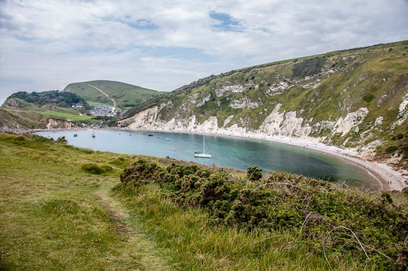 View of Lulworth Cove on the Jurassic Coast - Dorset, England - rossiwrites.com