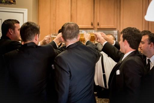 groomsmen cheering
