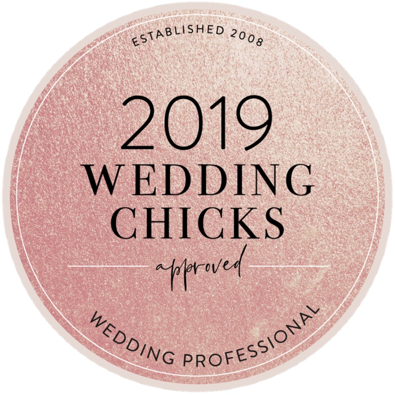 wedding chicks badge