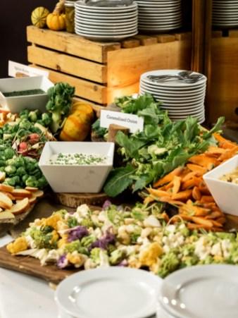 cauliflower and carrots wedding reception