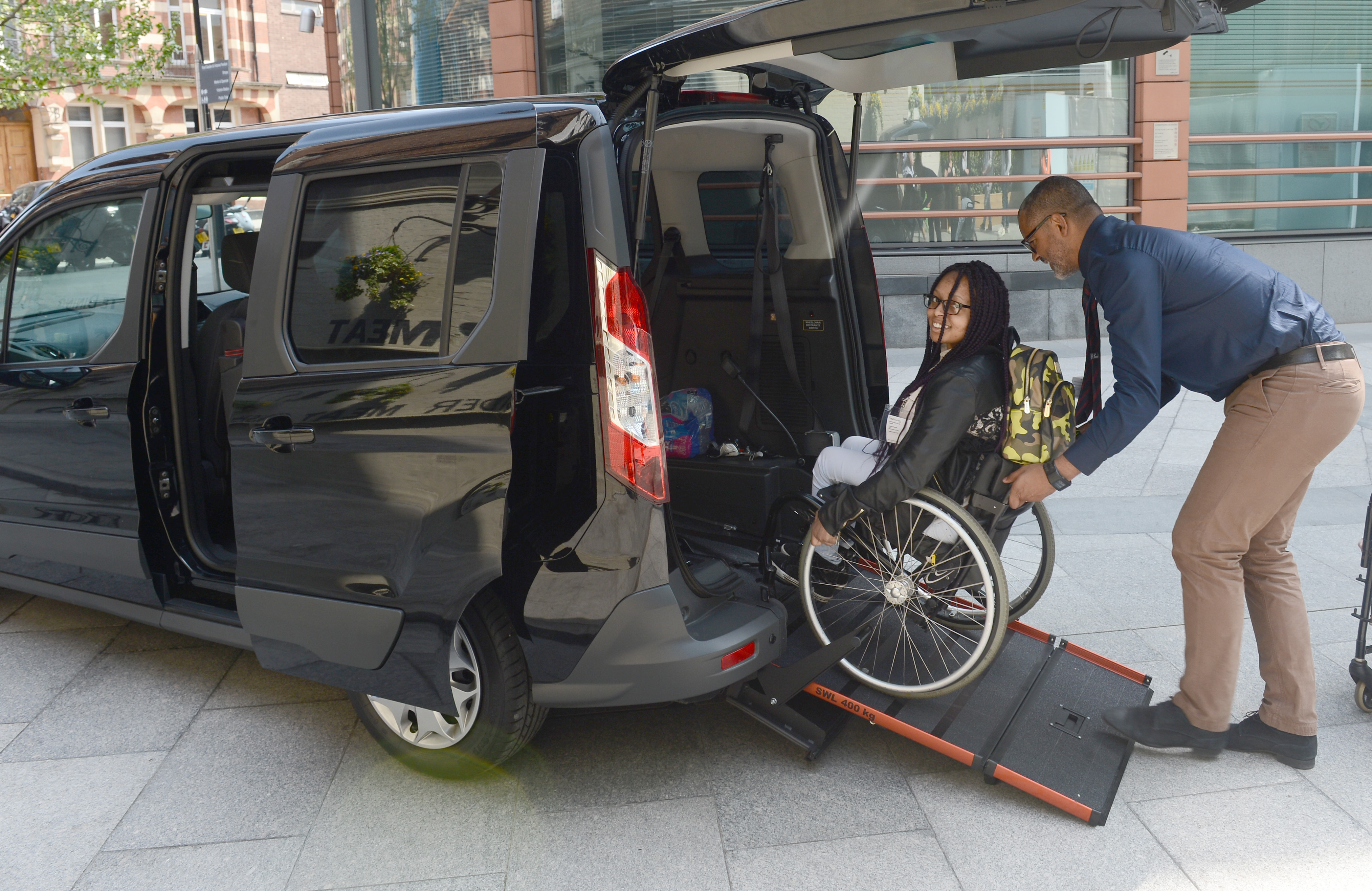 wheelchair uber bliss zero gravity chair cabs able to carry passengers in london