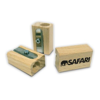 Green & Good Single Pencil Sharpener - Sustainable Timber