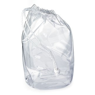 Clear Drawstring PVC Bag
