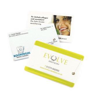 Dental Floss Credit Card Printed 1-Colour 2 Side