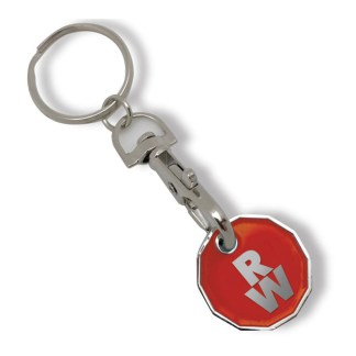 Stamped Trolley Coin Keyring