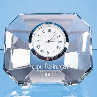 8.5cm Optical Crystal Wedge Clock