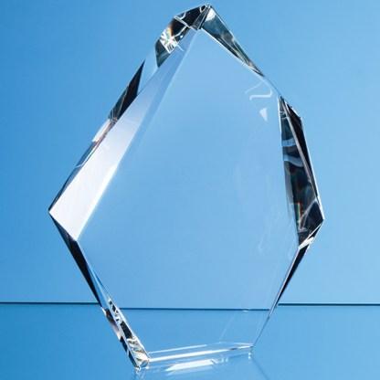 15cm Optical Crystal Facetted Ice Peak Award