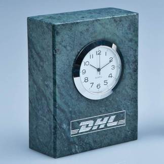 8cm Green Marble Rectangle Clock