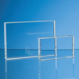 12.5cm x 17.5cm Optical Crystal Rectangle Award, H or V