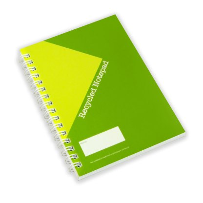 Green & Good A6 Wirebound Full colour Notebook - Recycled