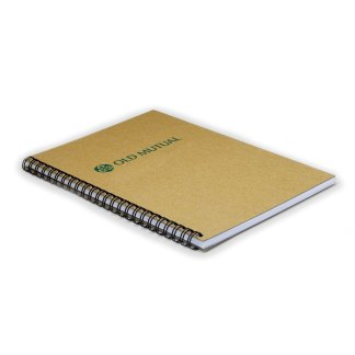 Green & Good A5 Wirebound Natural Board Notebook - Recycled