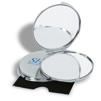 Chrome plated metal make up mirror