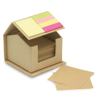 Recycled carton sticky notes