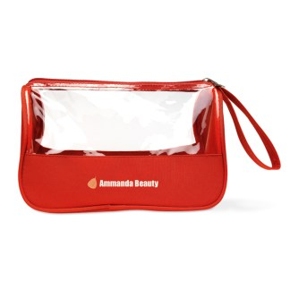 Toiletry bag microfiber with PVC
