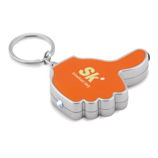 Thumbs up led light with keyring