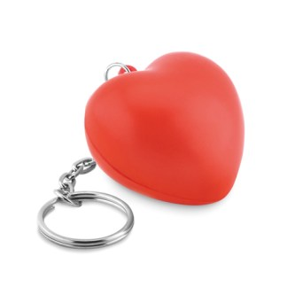 Keyring with PU heart