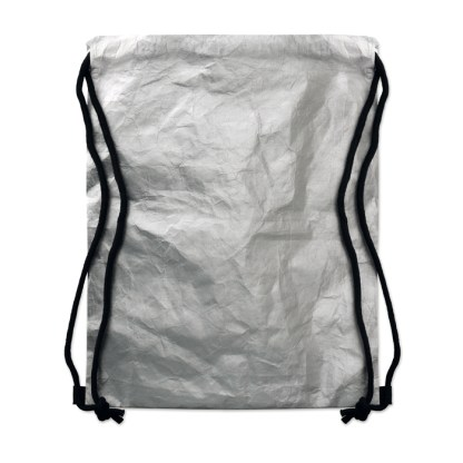 Silver Tyvek® drawstring bag
