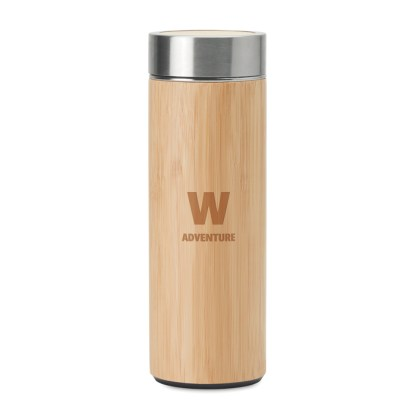 Double wall SS/bamboo bottle
