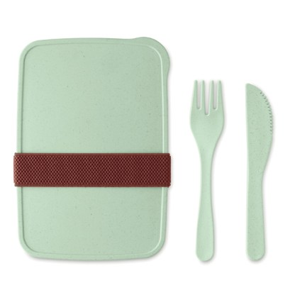 Lunch box in bamboo fibre /PP