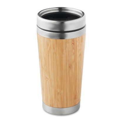 Bamboo double wall travel cup