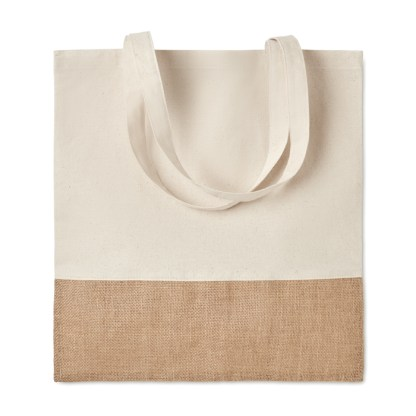 Shopping bag with jute details
