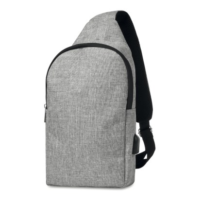 600D 2 tone polyester chest bag
