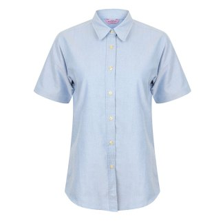 Ladies Short Sleeve Classic Oxford Shirt