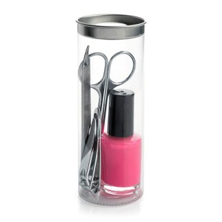 4pc Manicure Set Including A Nail Polish In A Tube