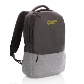 "Duo color RPET 15.6"" RFID laptop backpack"