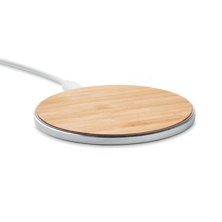Wireless quick charger in bamboo and aluminium