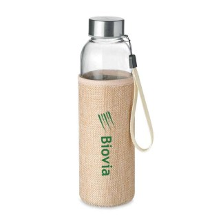 Utah touch glass bottle with eco sleeve