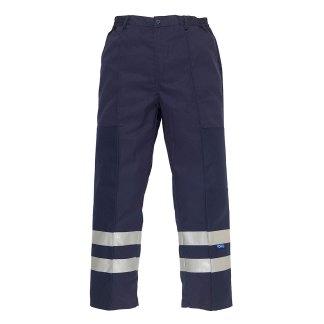 Reflective polycotton ballistic trousers