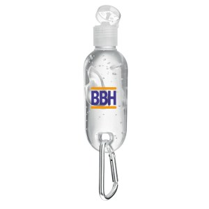 Hand cleanser with carabiner