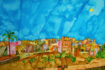 The Eye of the Kasbah. Inks and Dyes. 56 x 38. SOLD
