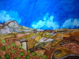 The Woven Earth. Inks and dyes. 56 x 38 cm on Moulin du Roy 300 gsm Torchon. SOLD