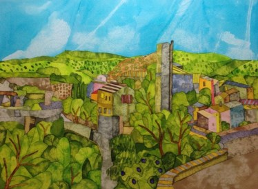 Minerve Remains. Inks and Dyes. 38 x 28 cm. SOLD