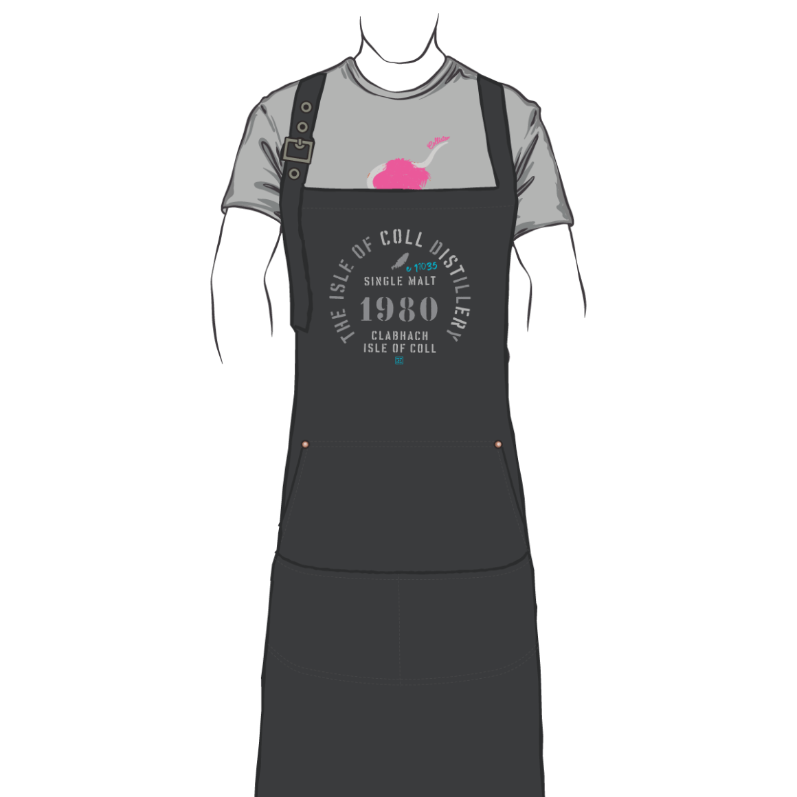 Isle of Coll Distillery Denim Apron