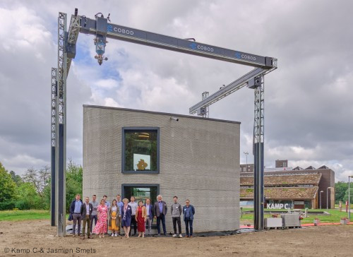 First two-storey 3D printed house in Europe