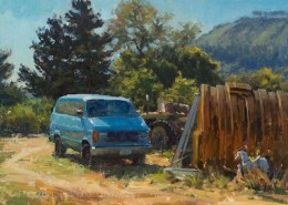 Artwork Photography of Carmel Blue Van 12x16