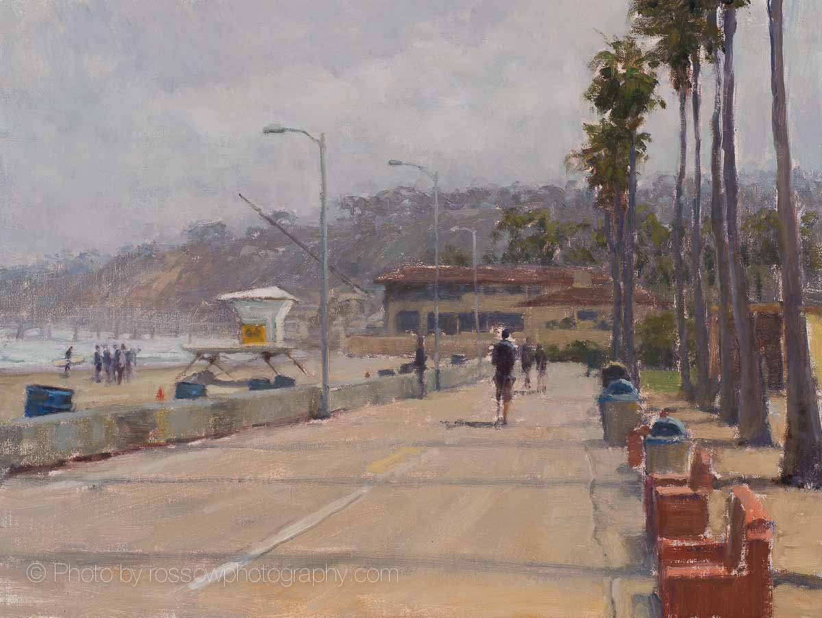 Artwork Photography of La Jolla Beach Walk 12x16