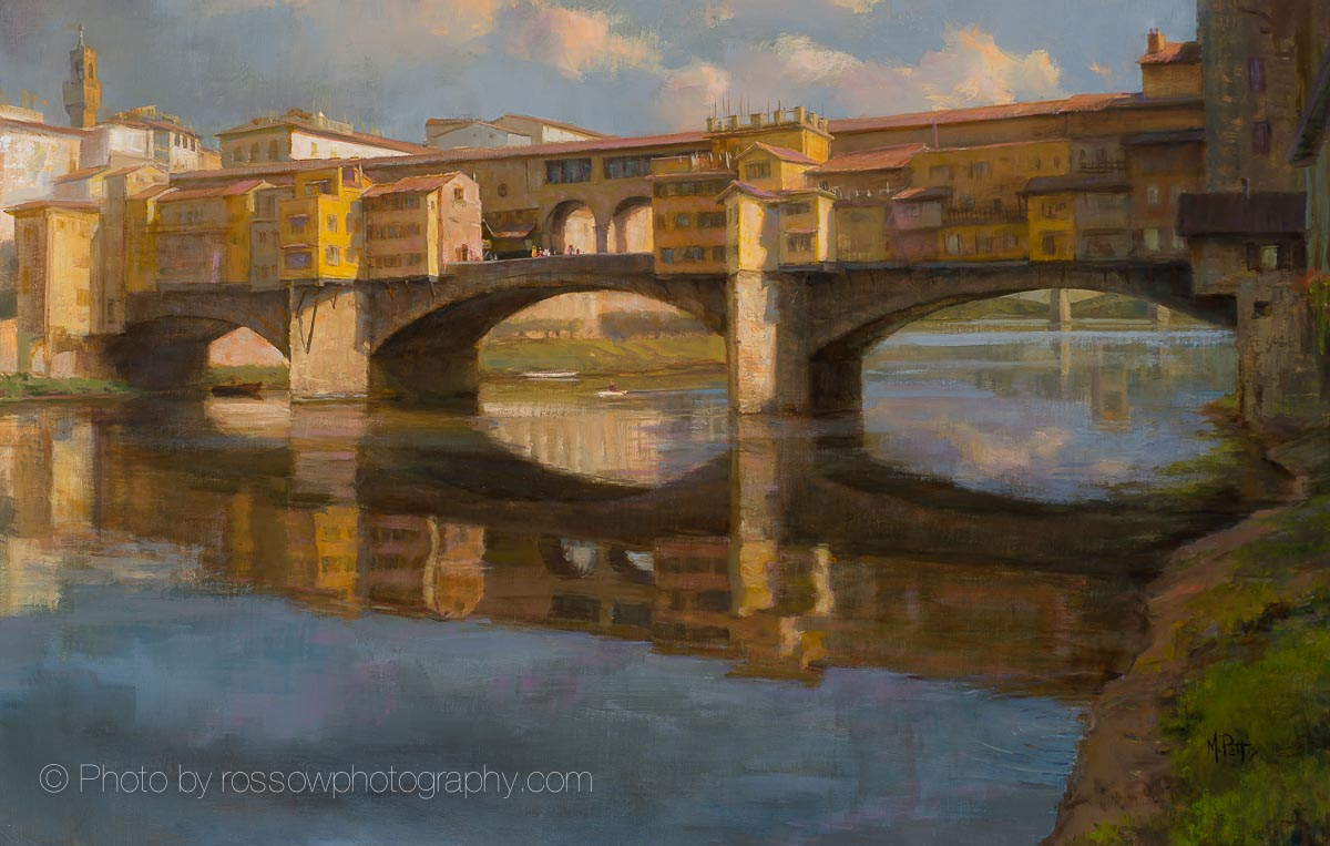 Artwork Photography of Rippling Light Ponte Vecchio