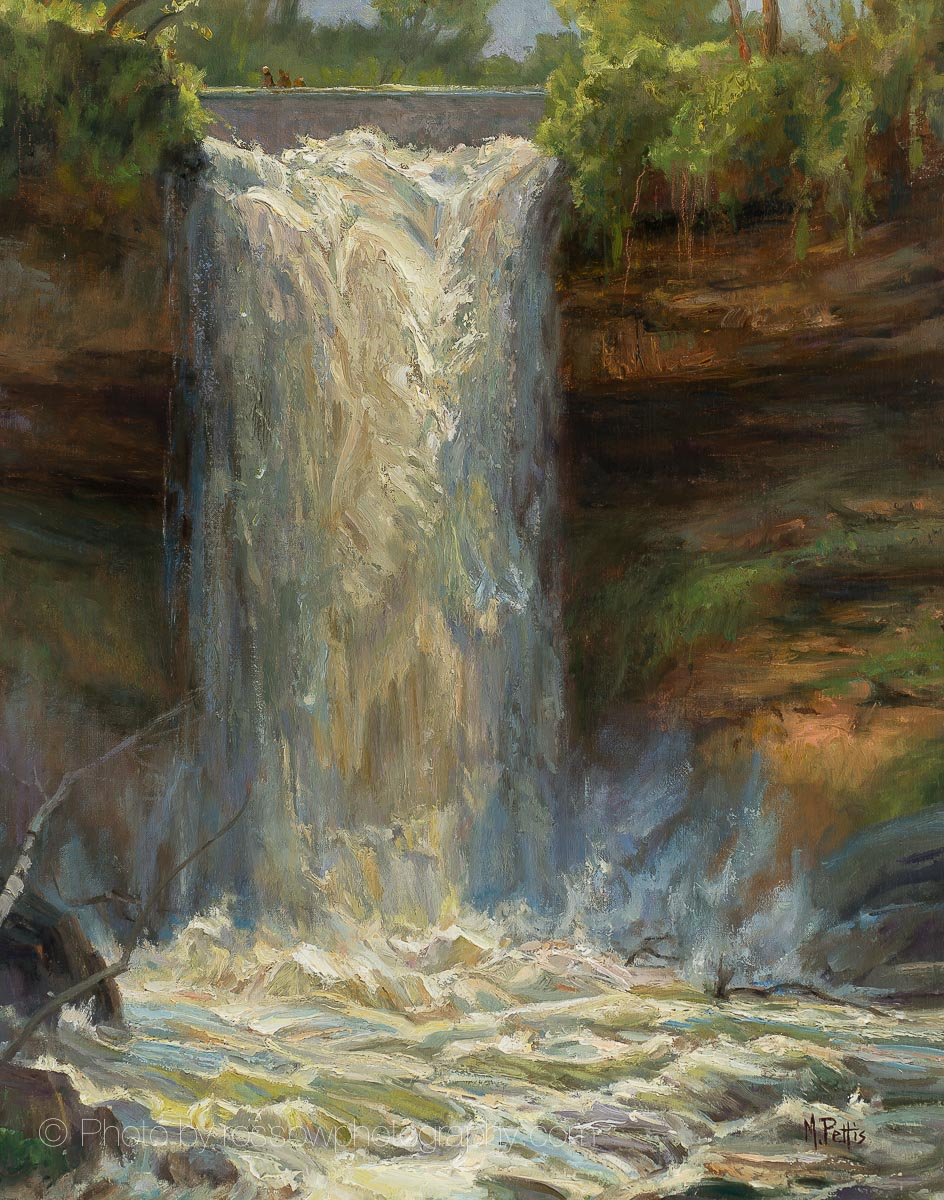 Artwork Photography of Minnehaha-Falls-Overcast by Mary Pettis